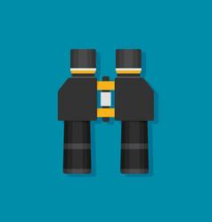 binoculars flat icon on background vector image vector image