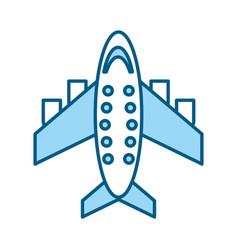 Blue airplane cartoon vector