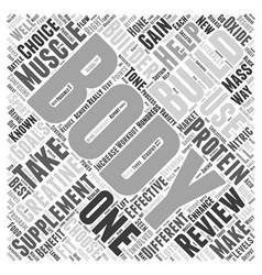 Body building supplement review word cloud concept vector
