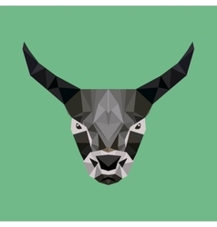 Bull low poly vector
