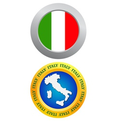 button as a symbol of Italy vector image
