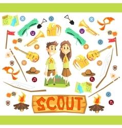 Children scouts vector