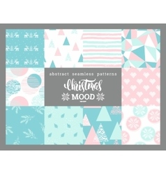 Christmas and New Year abstract geometric vector image vector image