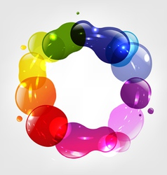 Colorful Splotch Ring vector image vector image