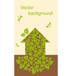 Ecological house vector image