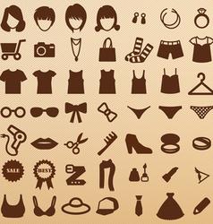 FashionSymbols vector image vector image