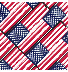 Grunge united states flag or banner vector