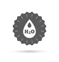 H2O Water drop sign icon Tear symbol vector image vector image