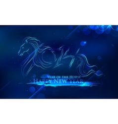 Horse new year 2014 vector