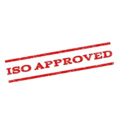 Iso approved watermark stamp vector
