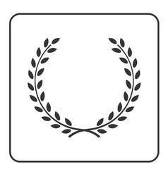 laurel wheat wreath symbol victory achievement vector image vector image