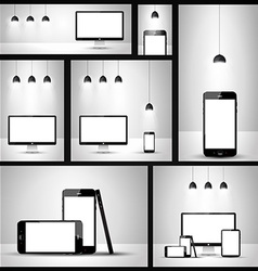 Modern devices mockups vector image