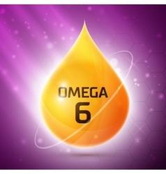 Omega 3 icon vector image
