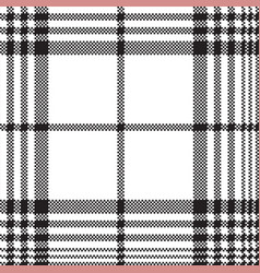 pixels black and white check plaid seamless vector image vector image