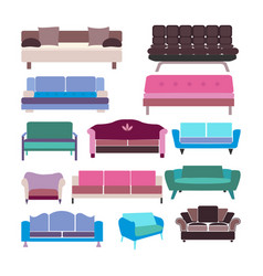 sofa set icon- vector image