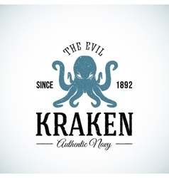 The evil kraken authentic navy abstract vector