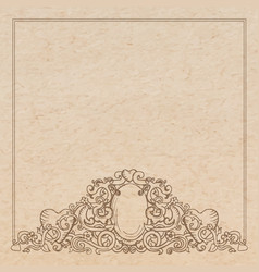 vintage old paper texture with romantic medieval vector image
