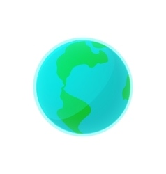 Earth icon in cartoon style vector
