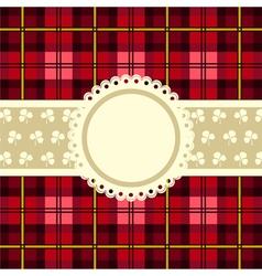 Tartan design vintage frame vector