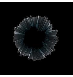 Isolated abstract round shape drapery logo wavy vector