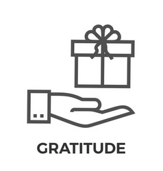 gratitude thin line icon vector image