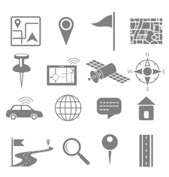Navigation icon set for GPS application vector image