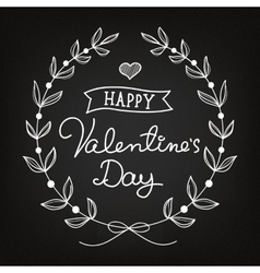 Chalk art valentines day card vector