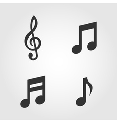 Music notes icons set flat design vector