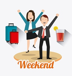 Happy weekend design vector