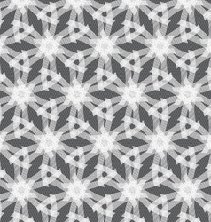 Repeating ornament white linear stars vector