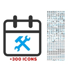 Working day icon vector