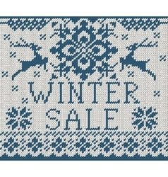 Winter sale card vector