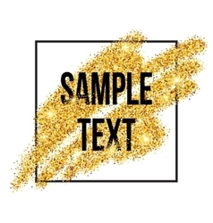 Golden sparkles brushstroke background vector