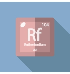 Chemical element rutherfordium flat vector