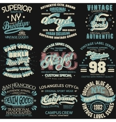 Denim typography t-shirt graphics vector image