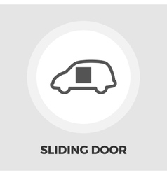 Car sliding door icon flat vector