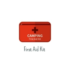 First aid kit flat icon camping first aid box vector