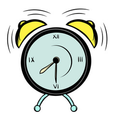 Alarm clock icon cartoon vector
