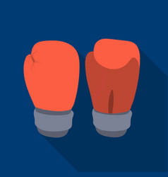 boxing gloves icon in flate style isolated on vector image