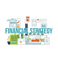 Business analysis financial report and strategy vector