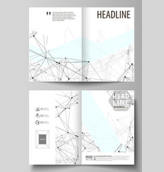 Business templates for bi fold brochure flyer vector