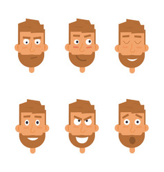 businessman generation of various expressions vector image vector image