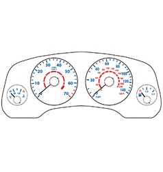 Car dashboard vector image vector image