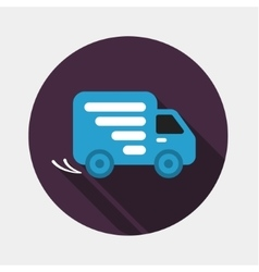 Delivery car shipping icon vector image