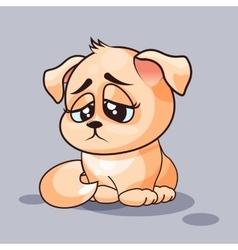 Dog is sad vector