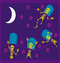 Eskeletons day of the dead vector