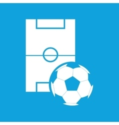 Football icon simple vector