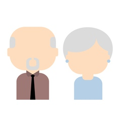 Happy old couple flat vector