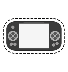 Isolated videogame toy design vector