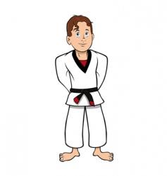 karate kid vector image vector image